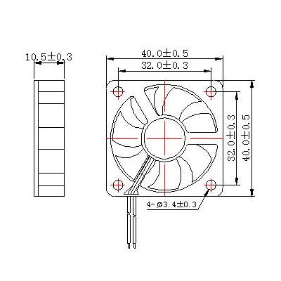 Ventilátor 4010, 2 piny