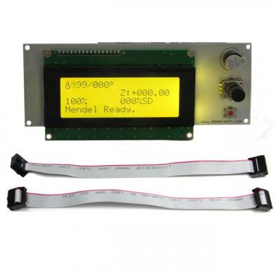 Geeetech, LCD 2004 + kabely a adaptér Sanguinololu