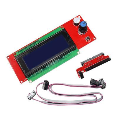 LCD 2004 + kabely a adaptér RAMPs, modrý, LCD2004RAB