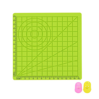 Podložka pre 3D pero, silikónová, zelená, 17x17cm, 2x...