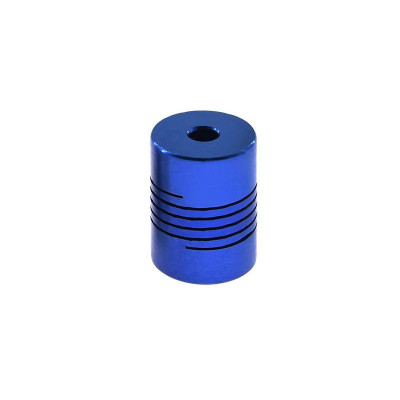 Spojka 5/8 mm, pružná, modrá, CALF58B