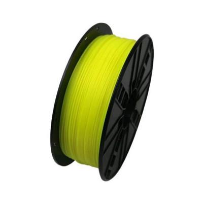 Gembird Tisková struna (filament), PLA, 1,75mm, 1kg, fluorescentní, žlutá, 3DP-PLA1.75-01-FY