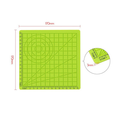 Podložka pro 3D pero, silikonová, 17x17cm