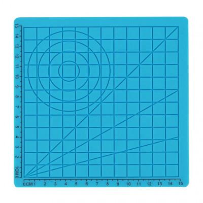 Podložka pre 3D pero, silikónová, modrá, 17x17cm, 2x chránič prstov, verzia A, 3DSPADAB