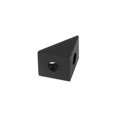 Úhelník 20x20x20mm, hliníkový, černý, ALBR2020BK