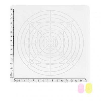 Podložka pro 3D pero, silikonová, bílá, 17x17cm, 2x chránič prstů, verze D, 3DSPADDW