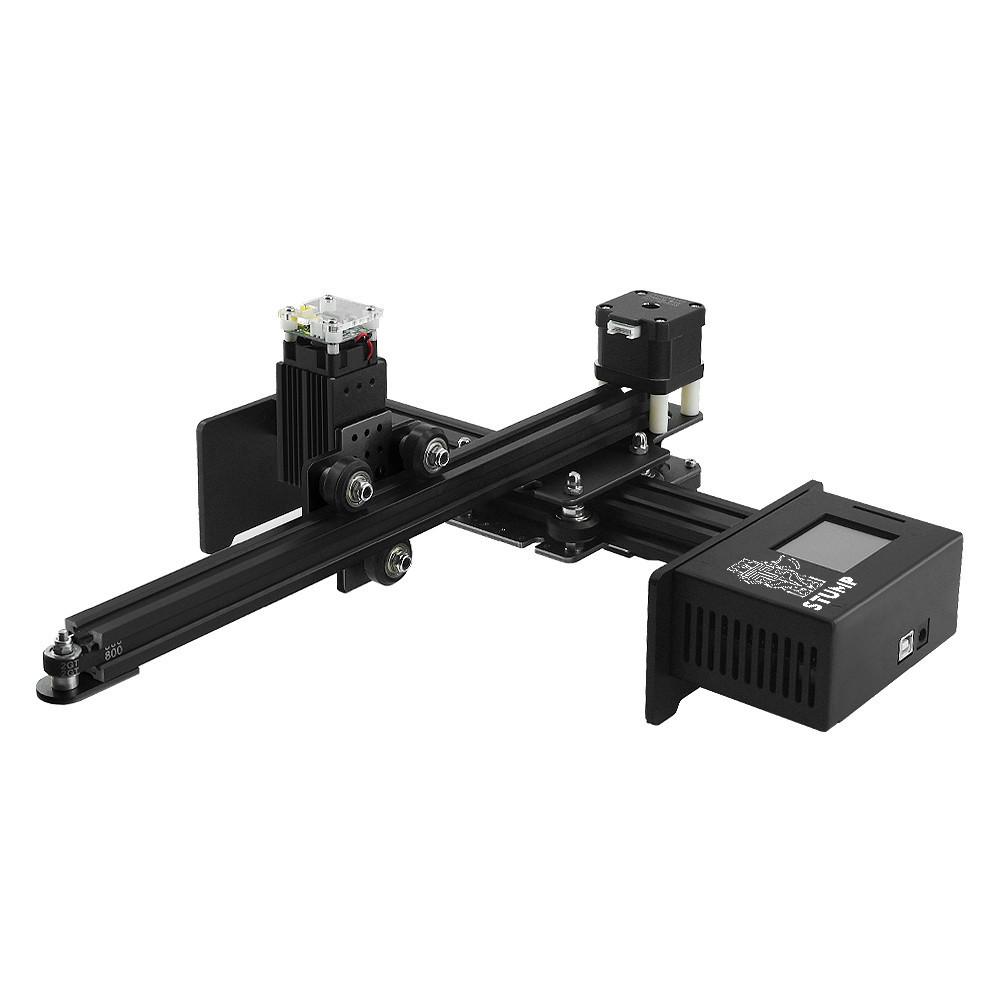 Laserová gravírka/řezačka, 17x20 cm, 2,5W, černá, stavebnice, GRAVI17202500