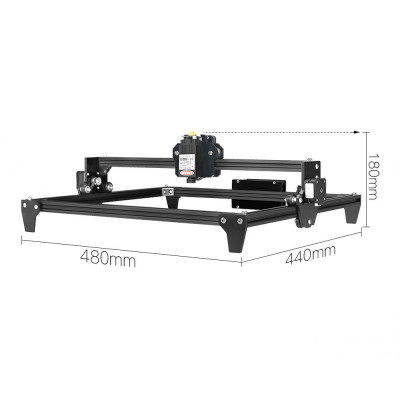 L3DT Laserová gravírka/řezačka, 30x40 cm, 2,5W, černá, stavebnice, GRAVI30402500