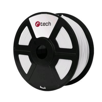 C-TECH, Tisková struna (filament), PETG, 1,75mm, 1kg, bílá, 3DF-PETG1.75-W