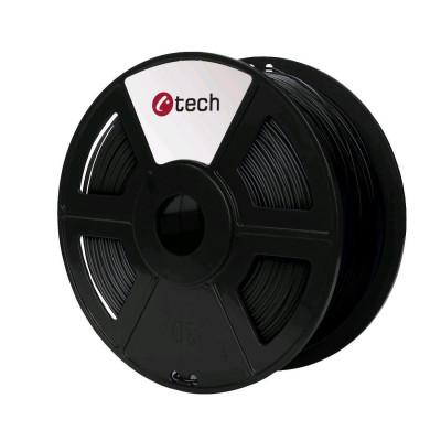 C-TECH, Tisková struna (filament), PETG, 1,75mm, 1kg, černá, 3DF-PETG1.75-BK
