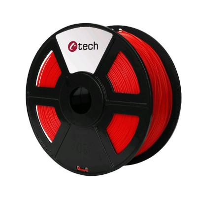 C-TECH, Tisková struna (filament), PETG, 1,75mm, 1kg, červená, 3DF-PETG1.75-R