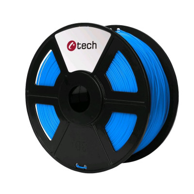C-TECH, Tisková struna (filament), PETG, 1,75mm, 1kg, modrá, 3DF-PETG1.75-B