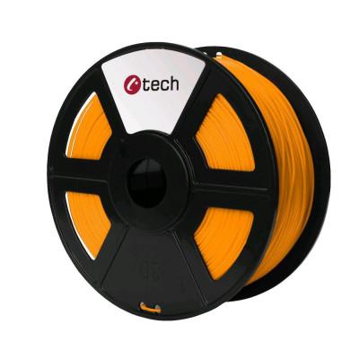 C-TECH, Tisková struna (filament), PETG, 1,75mm, 1kg, oranžová, 3DF-PETG1.75-O