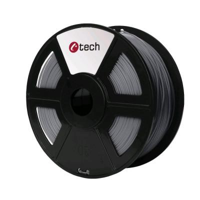 C-TECH, Tisková struna (filament), PETG, 1,75mm, 1kg, stříbrná, 3DF-PETG1.75-S