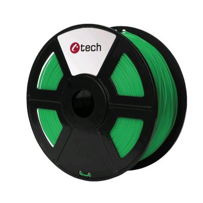 C-TECH, Tisková struna (filament), PETG, 1,75mm, 1kg, zelená, 3DF-PETG1.75-G