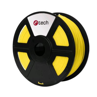 C-TECH, Tisková struna (filament), PETG, 1,75mm, 1kg, žlutá, 3DF-PETG1.75-Y