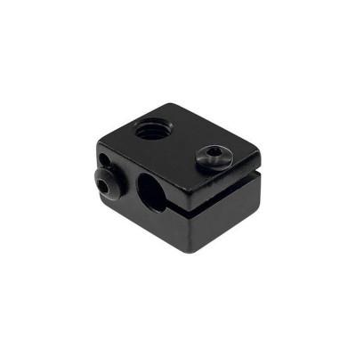 Heatblock V6, hliník, černý, neosazený, HBV6BK