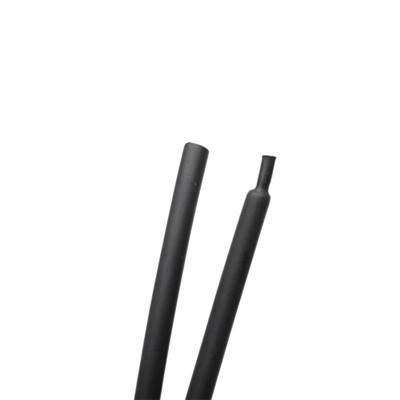 Zmršťovacia bužírka s lepidlom, čierna, 6 mm, BUZGL06