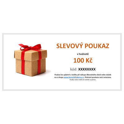Slevový poukaz v hodnotě 100 Kč, VOUCHER100