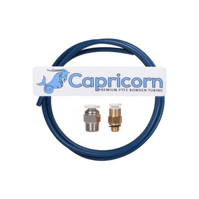 Capricorn PTFE teflonová trubička 1,9/4mm, 1m, s konektory, CAPRISET1M