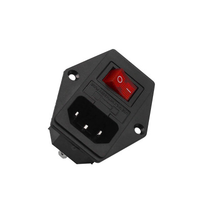Napájecí socket s pojistkou, vypínačem a vodiči, SOCKET230VAC