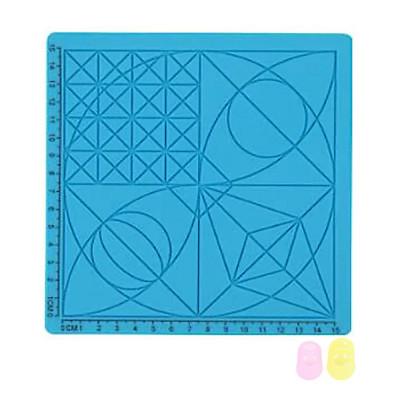 Podložka pre 3D pero, silikónová, modrá, 17x17cm, 2x chránič prstov, verzia C, 3DSPADCB
