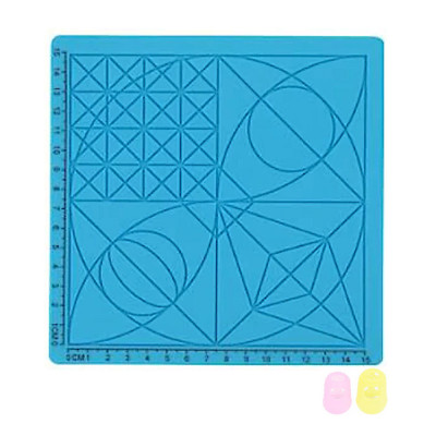 Podložka pro 3D pero, silikonová, modrá, 17x17cm, 2x chránič prstů, verze C, 3DSPADCB