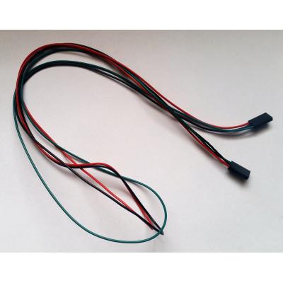 Prepojovací kábel F-F 3 piny 70 cm, F3F70